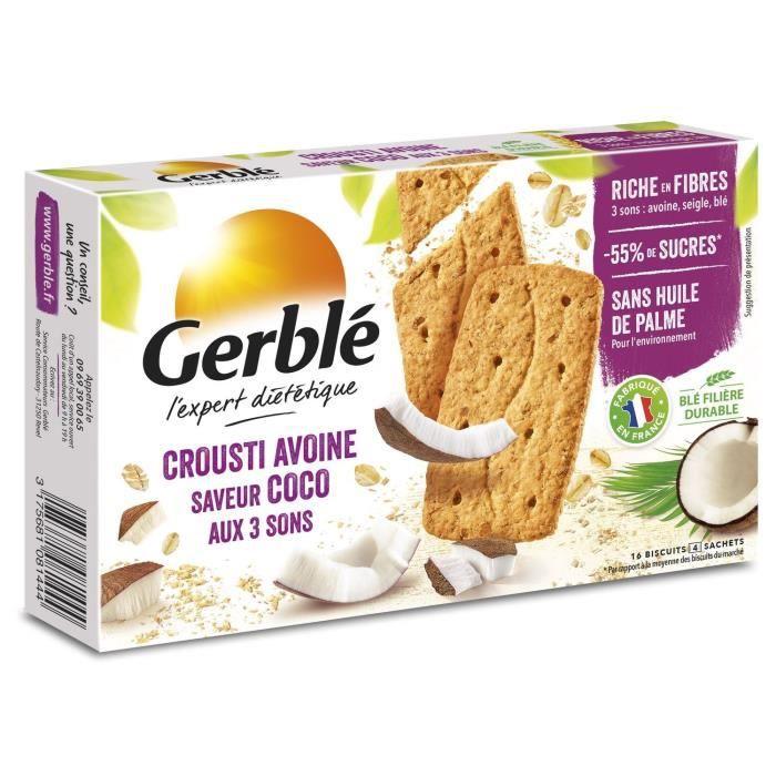 GERBLE Biscuits croustilant à l'avoine, coco aux 3 sons - 200 g