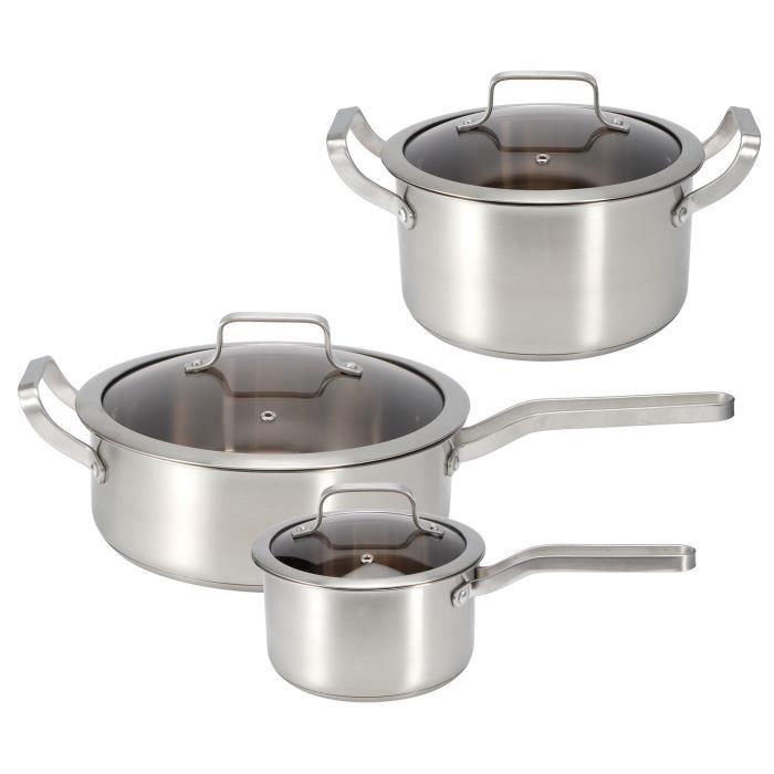 BEL 3 pièces / ensemble pot de soupe, poêle à frire, Batterie de cuisine, Ustensiles de cuisine en acier inoxydable