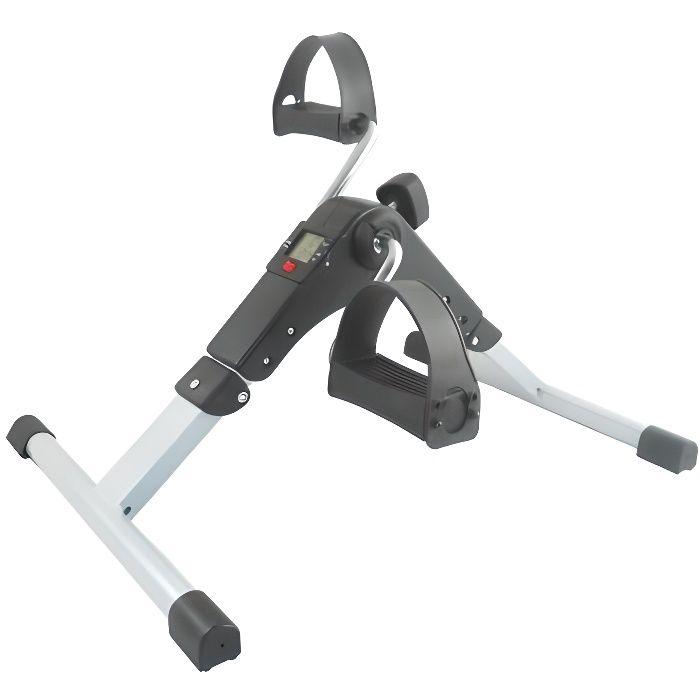 JOCCA - Mini vélo pédalier pliable - Exercice physique assis - Ecran digital multifonction