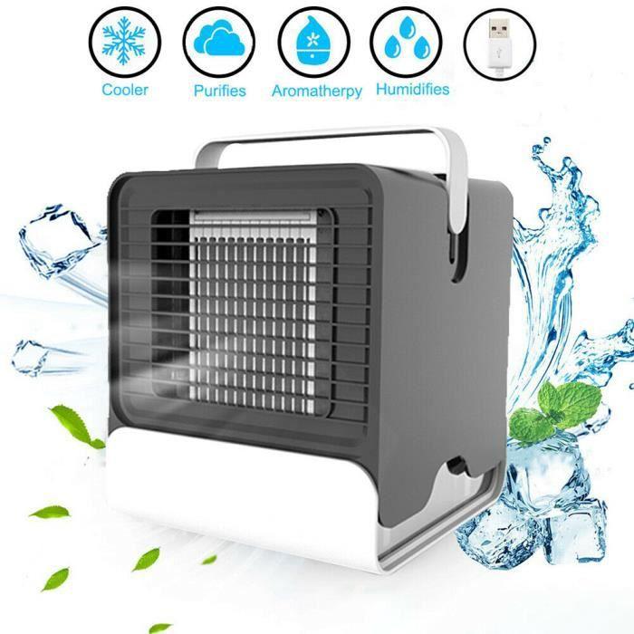 Climatiseur Portable Mobile Refroidisseur Bureau personnel de bureau personnel de climatiseur de fan frais d'ion négatif d'USB mini