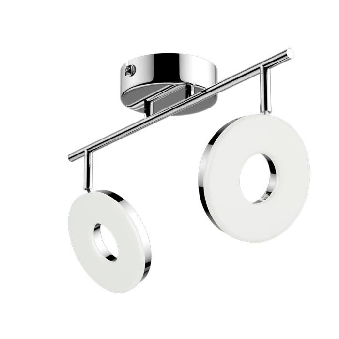 Barre de spots LED Plafonnier Luminaire de plafond 2 spots orientables Lampe à suspension Éclairage intérieur Métal