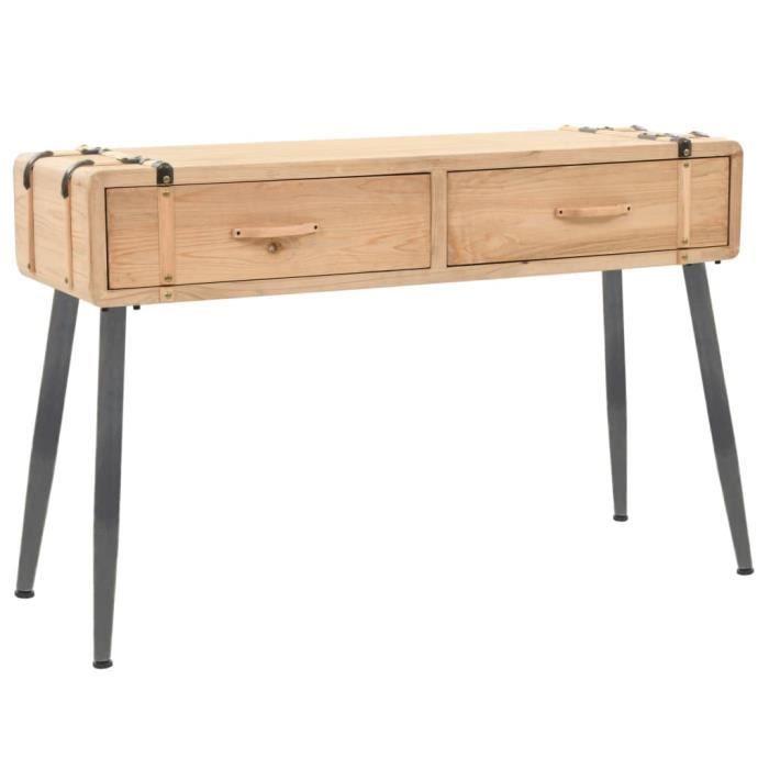 Table console Bois massif de sapin 115 x 40,5 x 76 cm