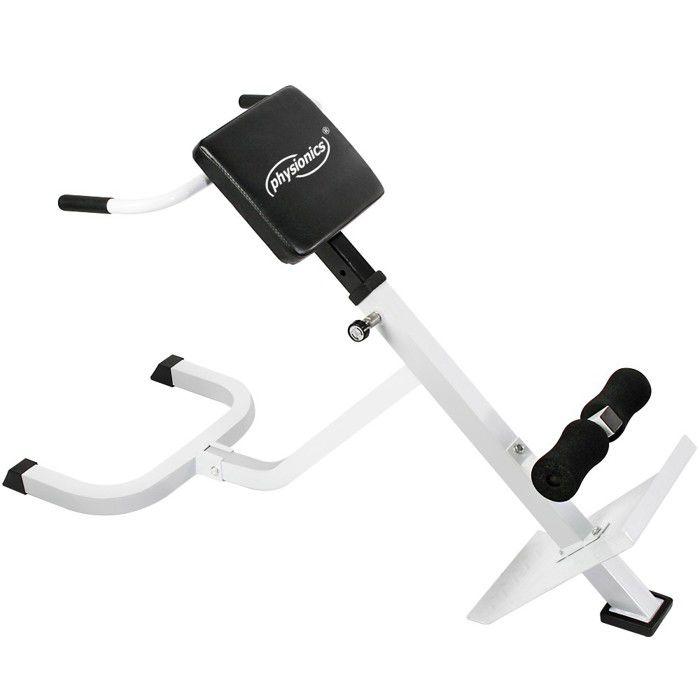 Physionics® Banc de Musculation pour Dos - Pliable, Réglable en Hauteur - Appareil Hyper Extension, pour Abdominaux, Fitness