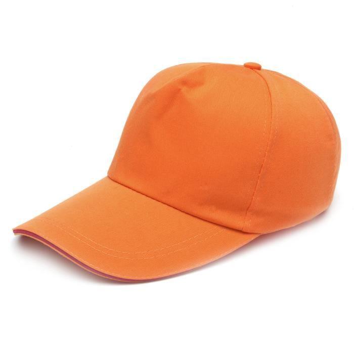 TEMPSA Casquette Casque de Protection Sécurité Chantier Anti-collision Respirant Baseball Type En Coton Modifié ABS orange