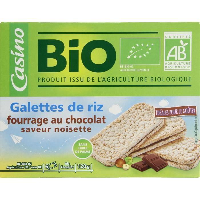 BJORG Galettes de riz bio fourrées au chocolat - 120 g