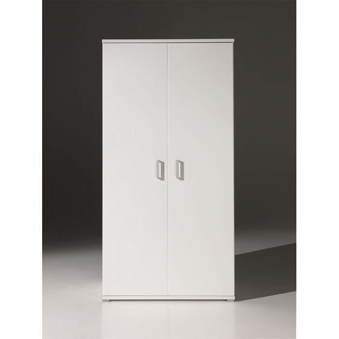 armoire dressing enfant 2 portes milan couleur achat. Black Bedroom Furniture Sets. Home Design Ideas
