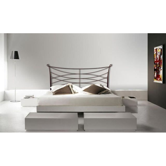 t te de lit en fer forg mod le dunia achat vente t te de lit cdiscount. Black Bedroom Furniture Sets. Home Design Ideas