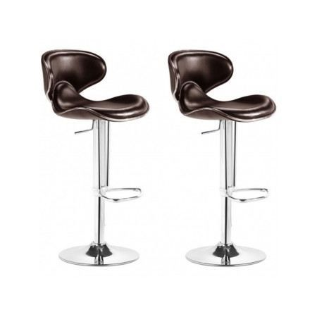 tabouret de bar scorpion marron set de 2 pi ces achat vente tabouret de bar cdiscount. Black Bedroom Furniture Sets. Home Design Ideas