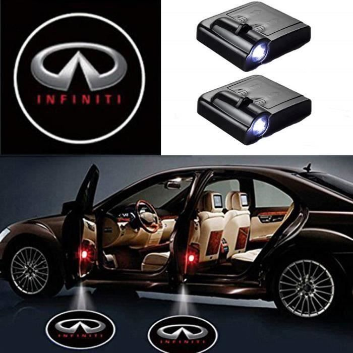 Lumi/ères de courtoisie 4 PCs de porte de voiture Lumi/ère de courtoisie LED Projecteur Shadow Logo Welcome Light pour Mercedes Benz GLA.
