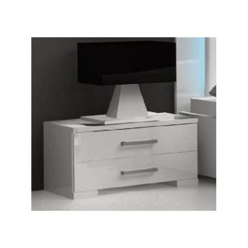 Table de chevet blanc brillant nali achat vente chevet table de chevet bl - Cdiscount table de chevet ...