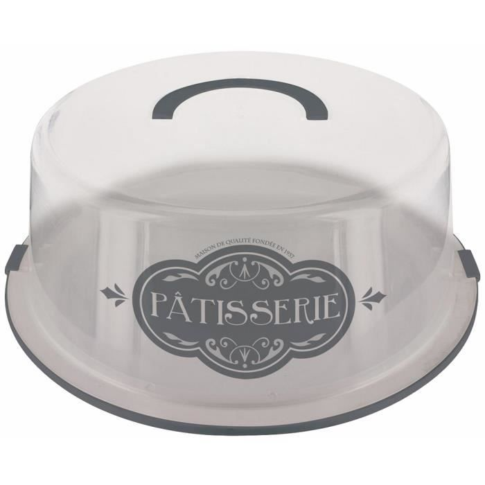 plateau avec cloche pour gateau d cor gourmand vintage patisserie gris achat vente plat de. Black Bedroom Furniture Sets. Home Design Ideas