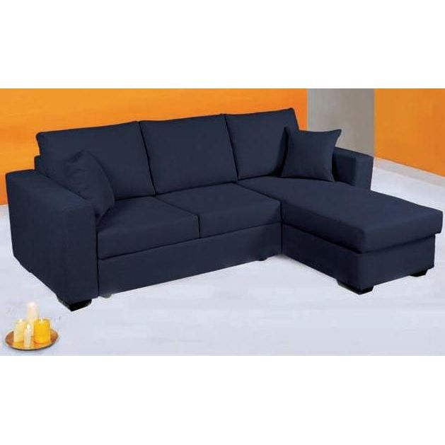 canap d 39 angle convertible en lit paris tissu bleu achat vente canap sofa divan cdiscount. Black Bedroom Furniture Sets. Home Design Ideas