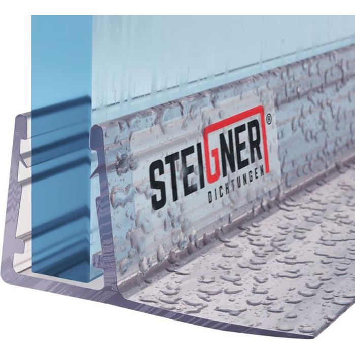 STEIGNER 180cm Joint d/étanch/éit/é de remplacement pour les vitres d/'une /épaisseur 5// 6mm UK24-06