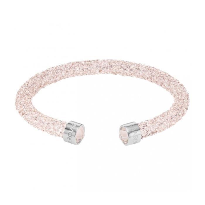 Bracelet Swarovski Crystaldust Rose - Manchette S - 38 cm Argent ...