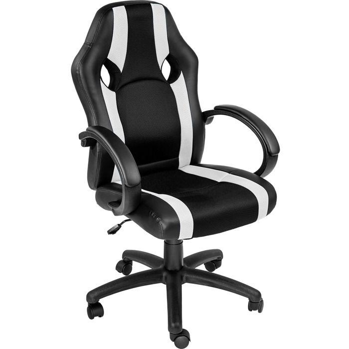 CHAISE DE BUREAU TECTAKE Chaise Gamer RACING SPORT Ergonomique - Ha