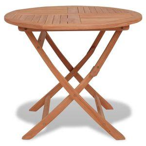 TABLE À MANGER SEULE YAJIASHENG Table à d?ner d'extérieur pliable Teck