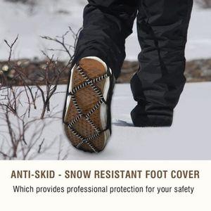 KEEPBLANCE 24 crampons /à glace am/élior/és pour la p/êche lescalade ou la randonn/ée sur neige et glace. la marche