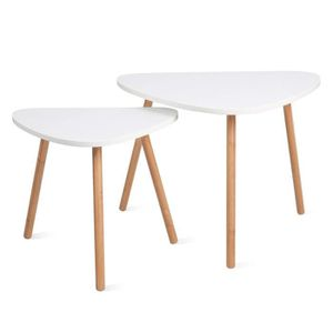 TABLE GIGOGNE Lot de 2 table basse,Table café,Table gigogne,Tabl