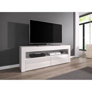 MEUBLE TV LUNA Meuble TV contemporain décor Corps blanc - Fa