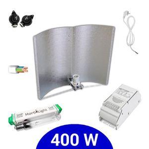 Eclairage horticole Kit lampe 400W HPS Hortilight + ETI class 1 + Adju