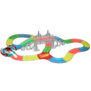JEU D'APPRENTISSAGE Tracks Circuit de voiture flexible, modulable, mag
