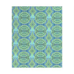 Feuille décopatch Papier Décopatch (1pc) Bleu-vert Avec Des Cercles,