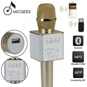 HAUT-PARLEUR - MICRO Or MicGeek Q9 Microphone Sans fil KTV Support USB