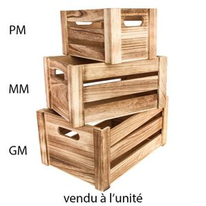 BOITE DE RANGEMENT Cagette bois 24.5x14.5x14cm