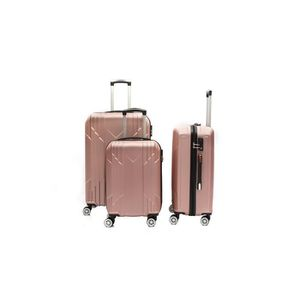 SET DE VALISES LYS Set de 3 Valises Rose gold Rigide ABS 4 Roues