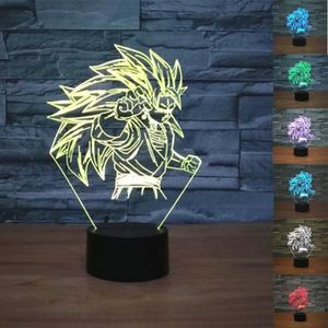 LAMPE A POSER Dragon Ball Super Saiyan Son Goku Z LED Lampe de n