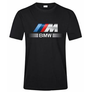 T-SHIRT BMW M Logo Tee Shirt Homme Fashion Casual 100% Cot