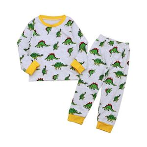 Enfants Petits Gar/çons Filles Coton V/êtements De Nuit Tenues 2Pcs Pyjamas Ensemble Homewear 2-8 Ans