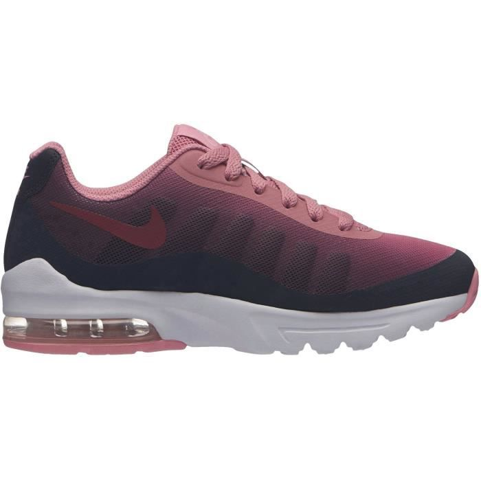 NIKE Baskets Air Max Invigor - Junior fille - Noir et rose