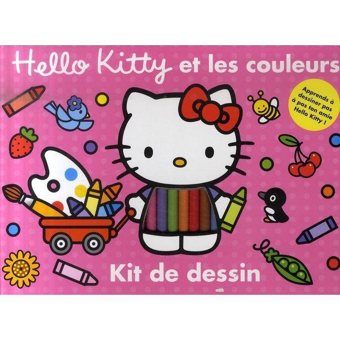 Hello Kitty Et Les Couleurs Kit De Dessin Achat Vente Livre