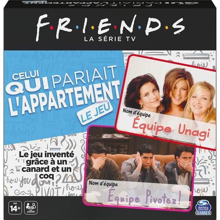 FRIENDS - JEU DE QUESTIONS « Celui qui pariait l'appartement » - 6059808 - Quizz licence TV show version française - Jeu de société