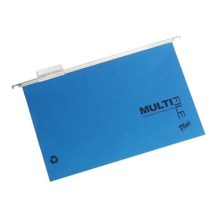 Rexel Multifile Plus Dossier suspendu base-V A4 pour 150 feuilles à onglets orange vif, vert vif, bleu vif, violet clair (pack…