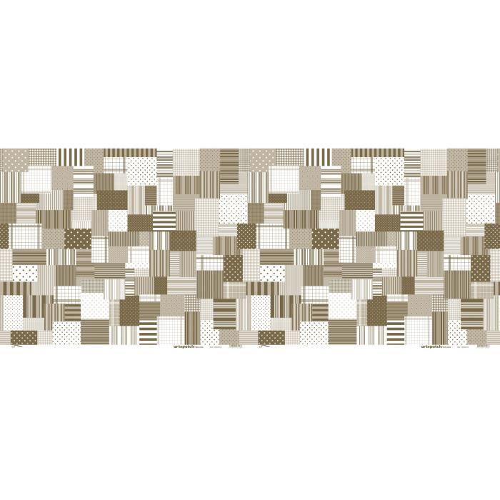 Papier patch -ArtePatch- - Géométrie foncé - 2 feuilles - Artémio Multicolore - Assort.