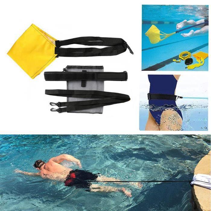 Kit de Ceinture de Natation Bandes de élastique de Résistance de plongée corde de traction de piscine Jaune