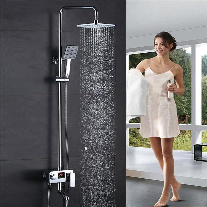 WISS-Colonne de Douche Douche ensemble douche panneau LCD affichage douche système douche de tête douche colonne discount