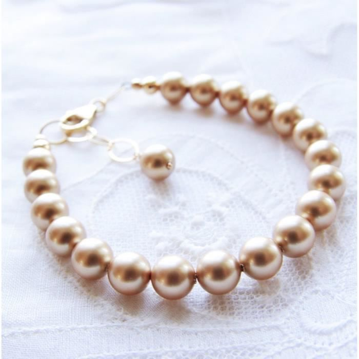 Craze swarovski d'or perle bracelet 14kt gold filled IW159
