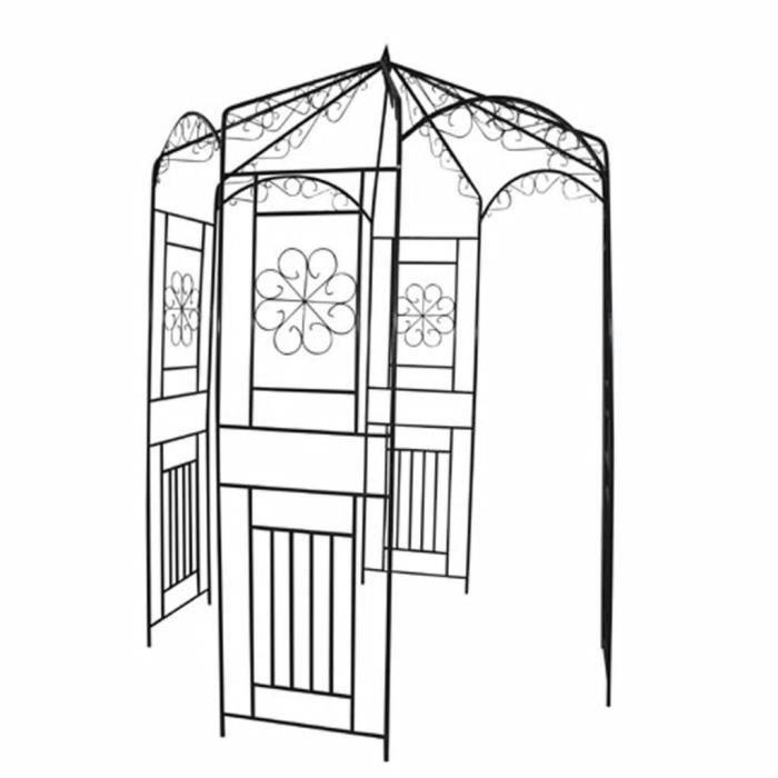 Voûte de jardin Gloriette Arches, treillages, tonnelles 250 cm Noir