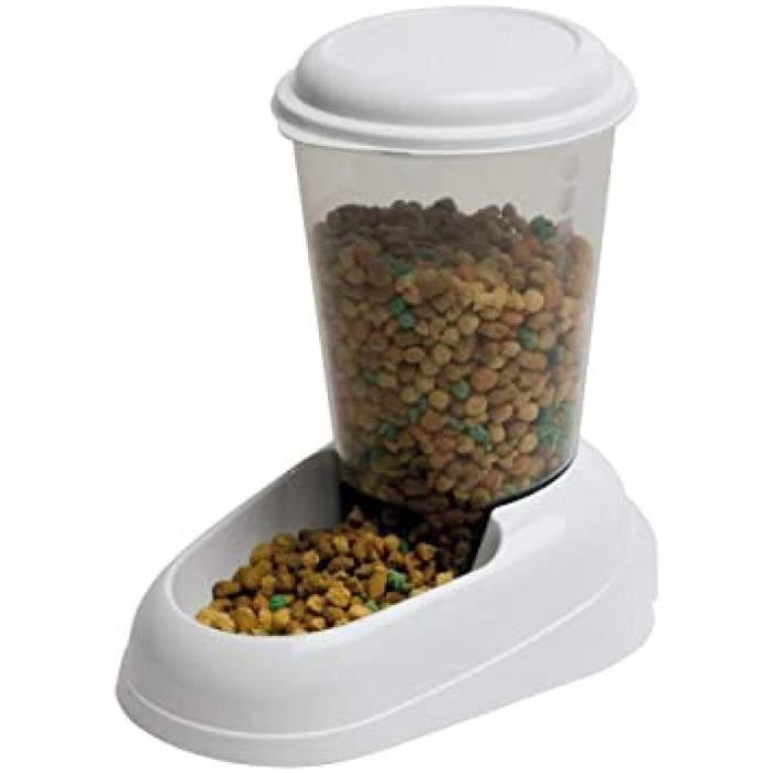 distributeur de nourriture sèche, croquettes pour chats et chiens 3 litres zenith mangeoire pratique, distributeur de nourriture,20,