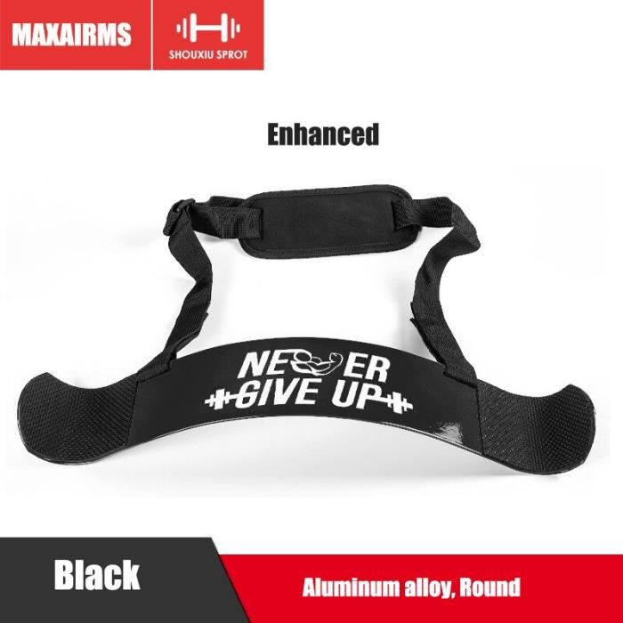 Maxairms 4 couleurs haltérophilie bras Blaster réglable en aluminium musculation Curl Triceps muscul - Modèle: Black - HSJSZHA05988