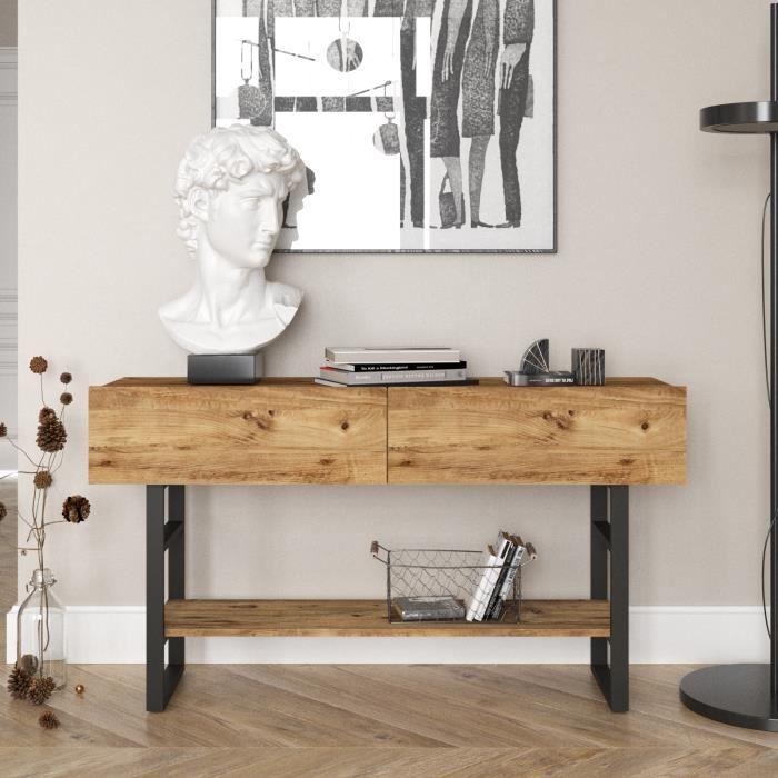 Yurupa Table de Console, Table d'appoint, Buffet, pour Salon Style Industriel Vintage ML23-A