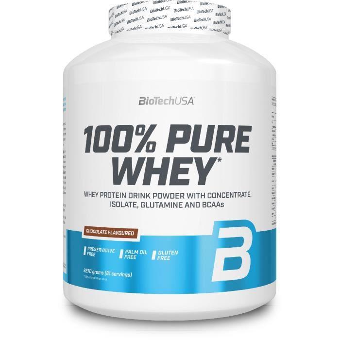 100% Pure Whey - CHOCOLAT - Biotech USA 2270g (2.27 kg)