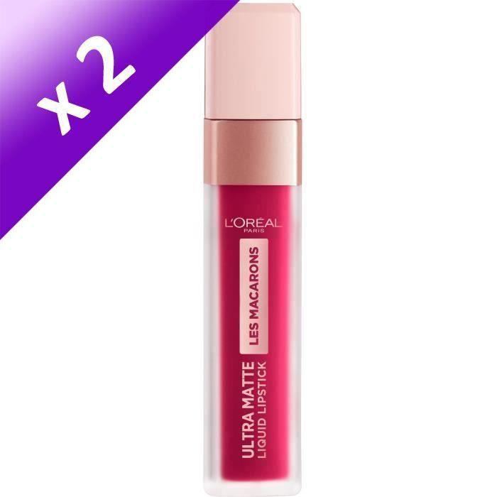 Lot De 2 - L'Oréal Paris Infaillible Rouge à Lèvres Liquide Ultra-Mat 838 Berry Cherry