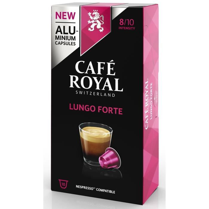 CAFE ROYAL compatible Nespresso Alu Lungo Forte x10