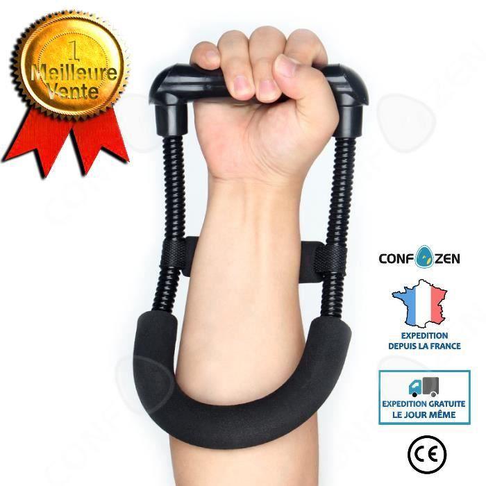 CONFO Accessoires Fitness - Musculation,Puissance de la poignée poignet avant bras poignée de la main appareil d'entraînement de la