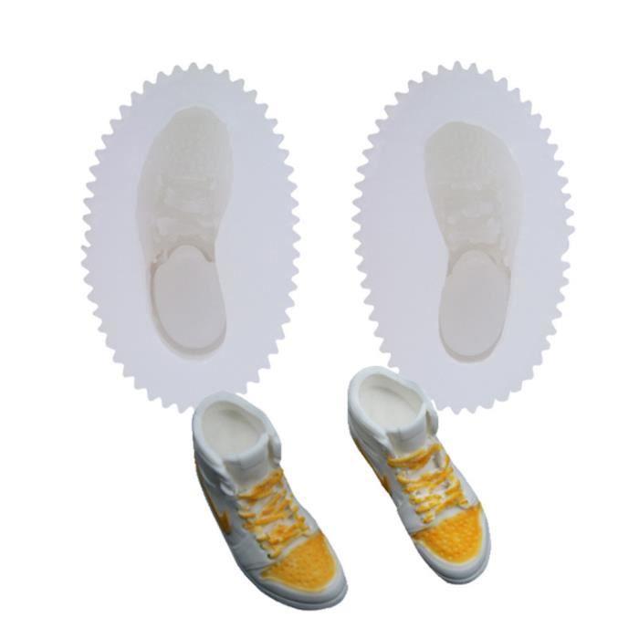 3D Sneakers Chaussures de Course Chaussures De Noix De Coco Moule En Silicone Fondant Moule À Cake Aromathérapie De Gypse Moule