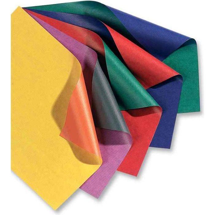Rouleau Papier cadeau Kraft Bicolor 70 cm x 2 m Jaune/orange